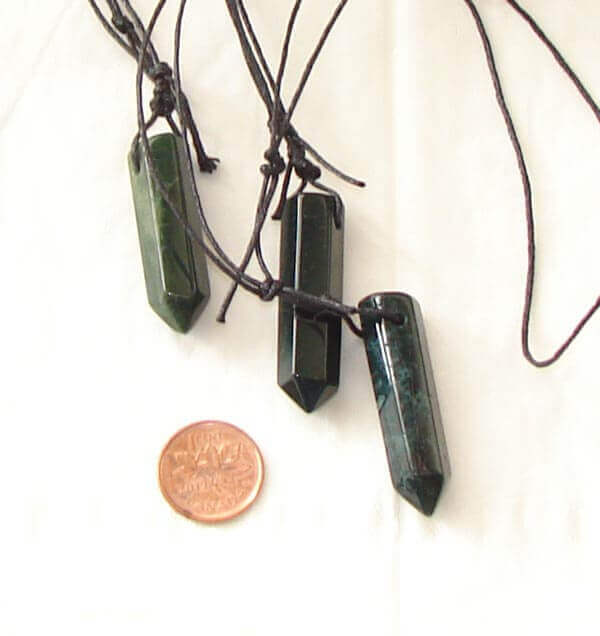 Green Jasper pendants support you during stressful times - Free info on properties of healing with purchase - Free shipping over $60.