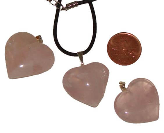 Buy gemstone pendants how to use rose quartz for healing rose quartz pendants have a healing energy of infinite peace information about uses how aloadofball Choice Image